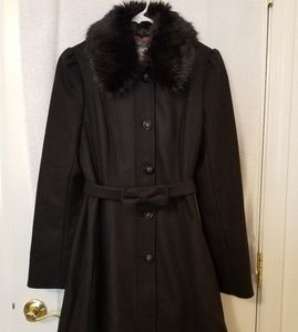 Banana Republic Wool Coat with Removable Collar